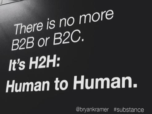 There is no more B2B or B2C: It's Human to Human, H2H