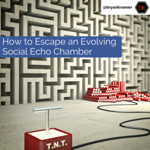 How to Escape an Evolving Echo Chamber